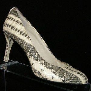 Michael Michael Kors snake print leather heel 5.5M
